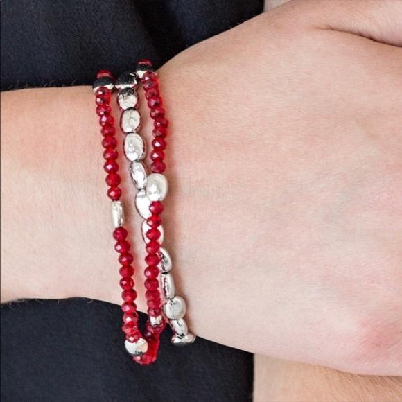 K28 Red < silver > bracelet